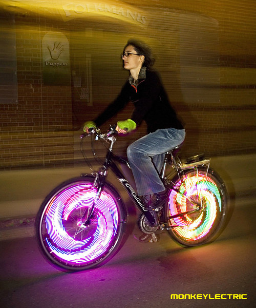 MonkeyLectric Monkey Light Bike Wheel Light :  bicycle wheel art bicycle fashion bicycle chic bicycle art