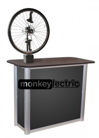 MonkeyLectric SM1 Display Stand on Trade Show Counter