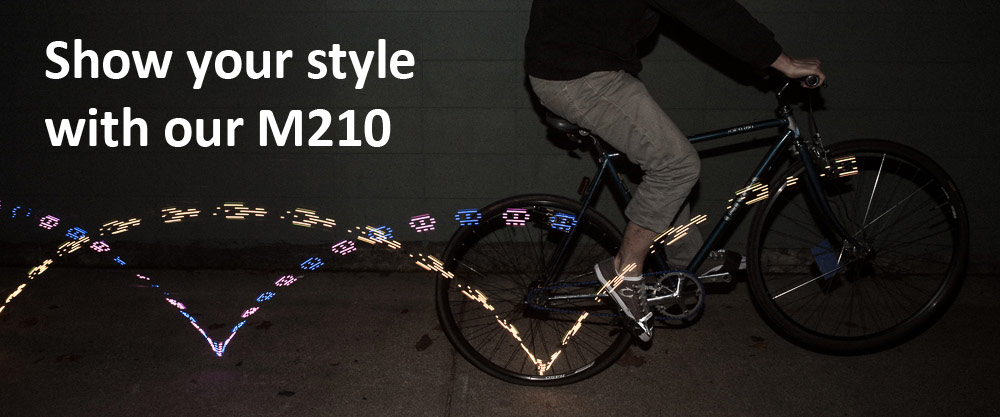 Our M210 bicycle wheel light