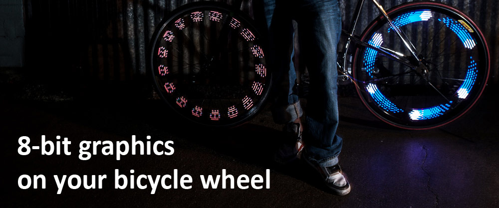 The MonkeyLectric M210 bicycle wheel light