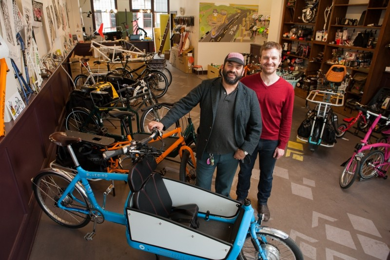 Davey and Tyler at G&O Cyclery in Seattle