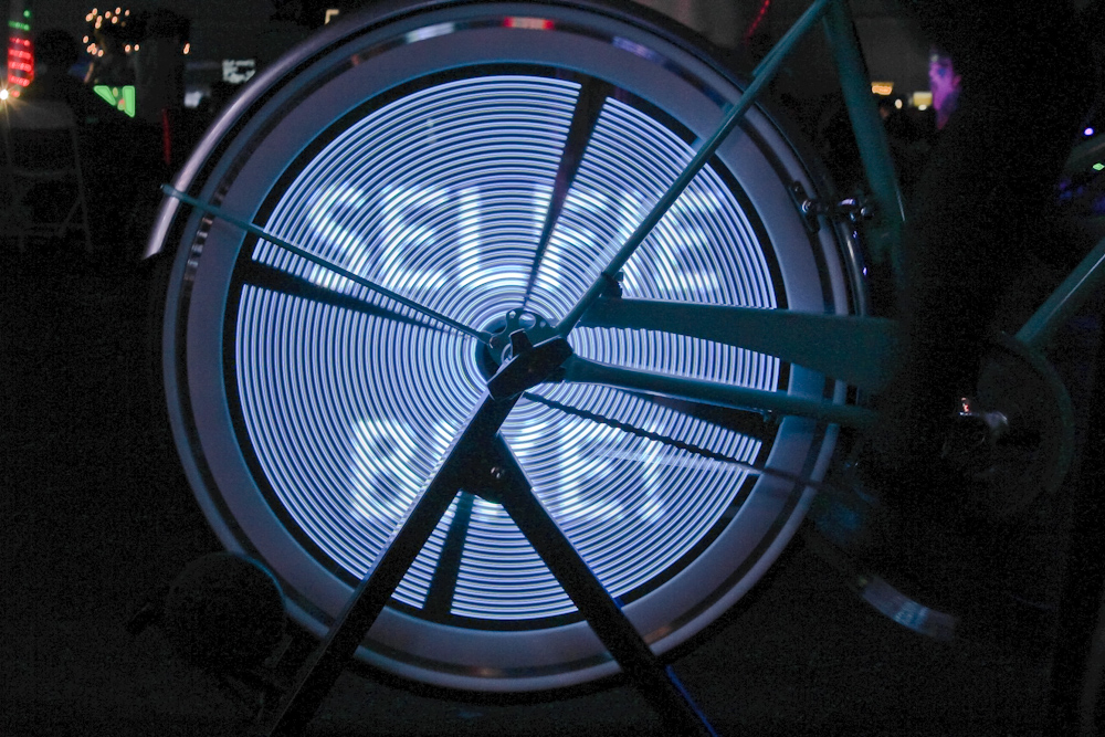 Another view of the Selfie Bike wheel