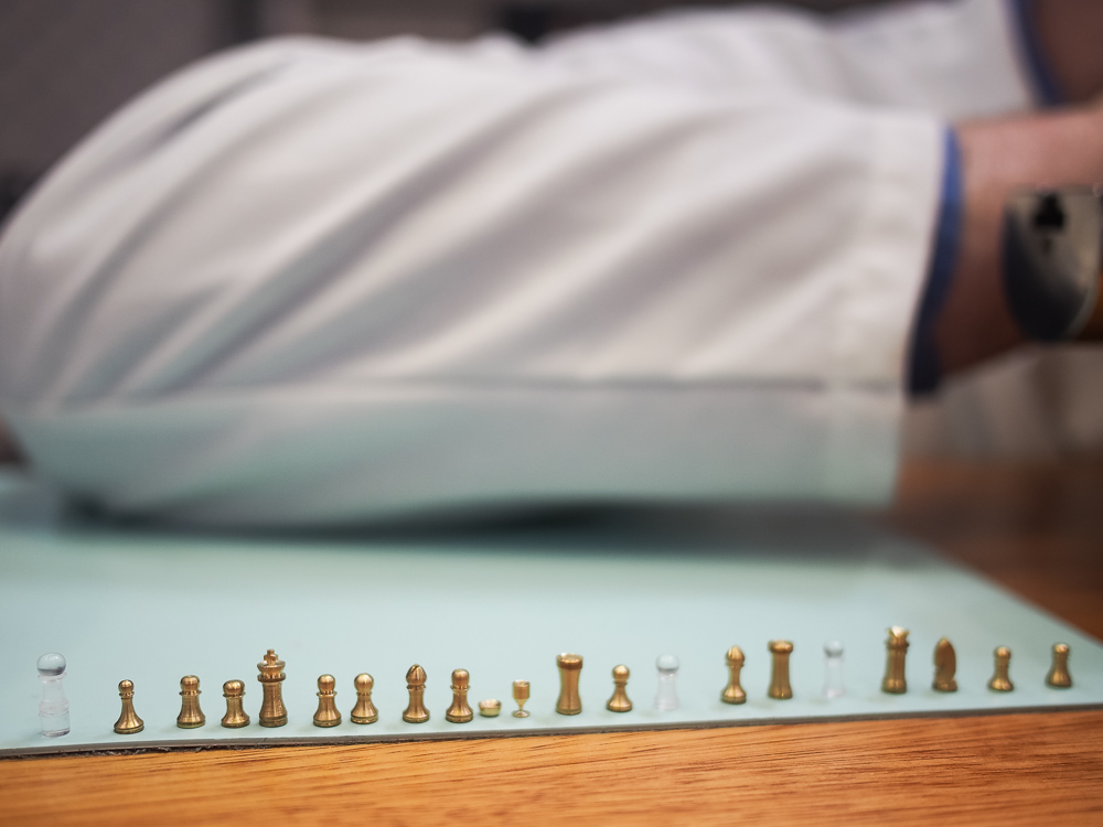 The American Watchmakers-Clockmakers Institute - Tiny chess pieces!